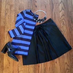 Gap Black Pleated A-Line Mini Skirt